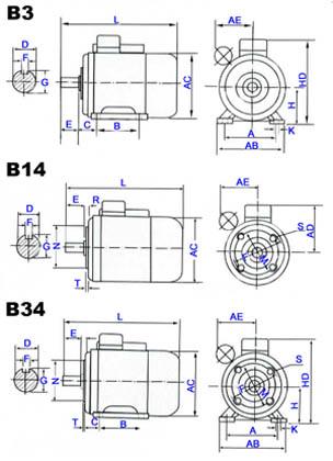 yc单值电容单相异步电动机